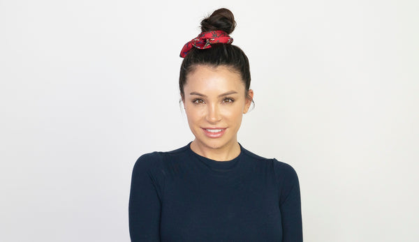 A Cute Topknot and Scarf Tutorial