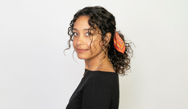 How to Refine Your Curly Ponytail in 5 Minutes Flat