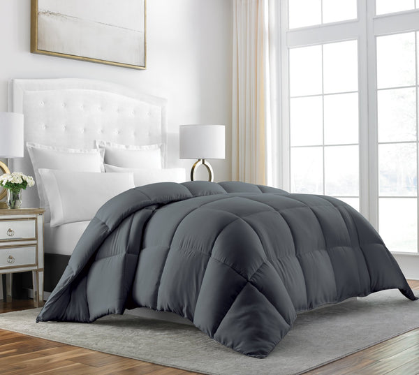 Beckham Hotel Collection Luxury Down Comforter with 100% Egyptian Cotton Shell - All Season Premium & Hypoallergenic Comforter