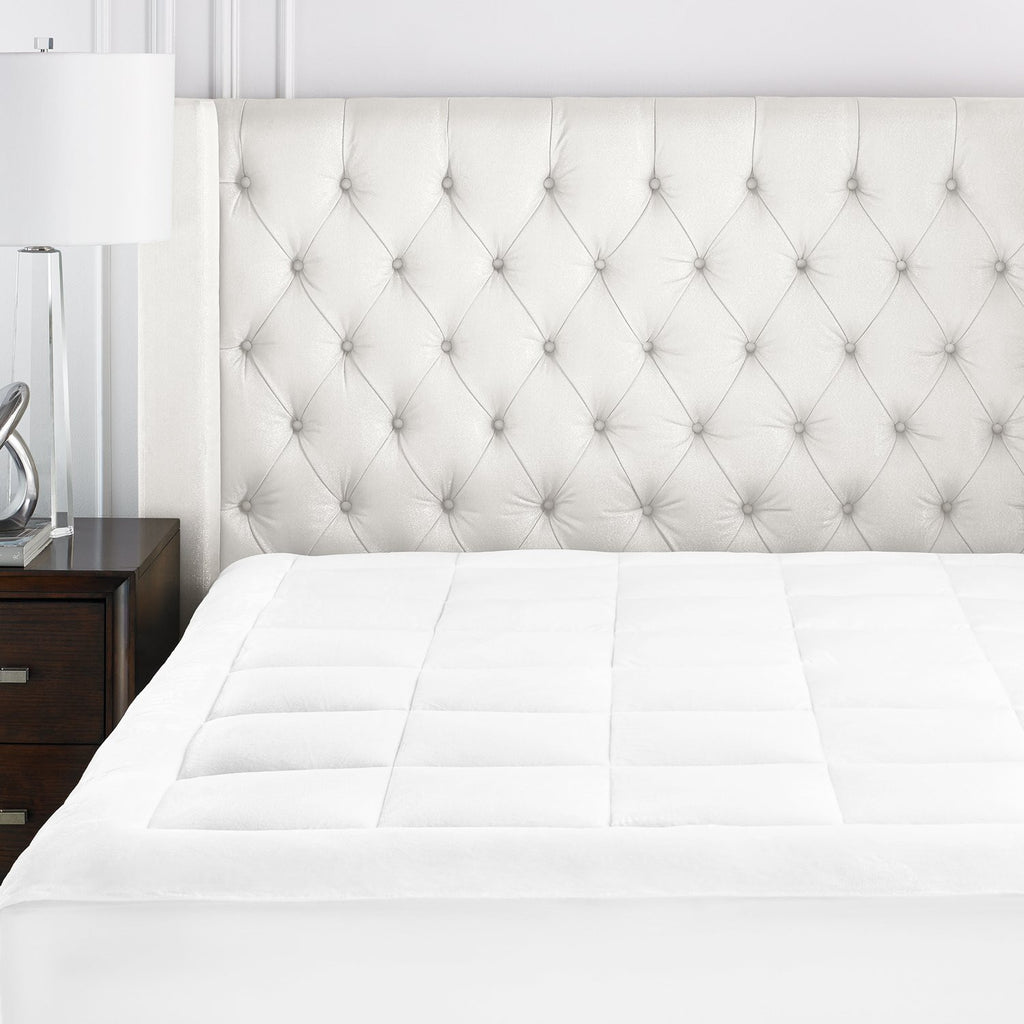 Beckham Luxury Linens Microplush Overfilled Stretch-To-Fit Mattress Pad