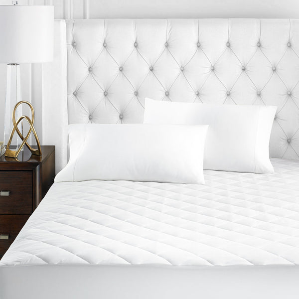 Beckham Hotel Collection Luxury Microfiber Mattress Pad - Quilted, Hypoallergenic, and Water-Resistant