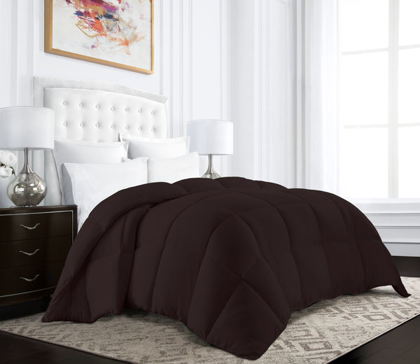Beckham Hotel Collection Egyptian Quality Cotton Goose Down Alternative Comforter - 750 Fill Power - Premium Hypoallergenic All Season Duvet