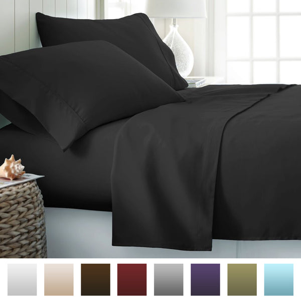 Beckham Hotel Collection 1500 Series Luxury Soft Brushed Microfiber Bed Sheet Set Deep Pocket