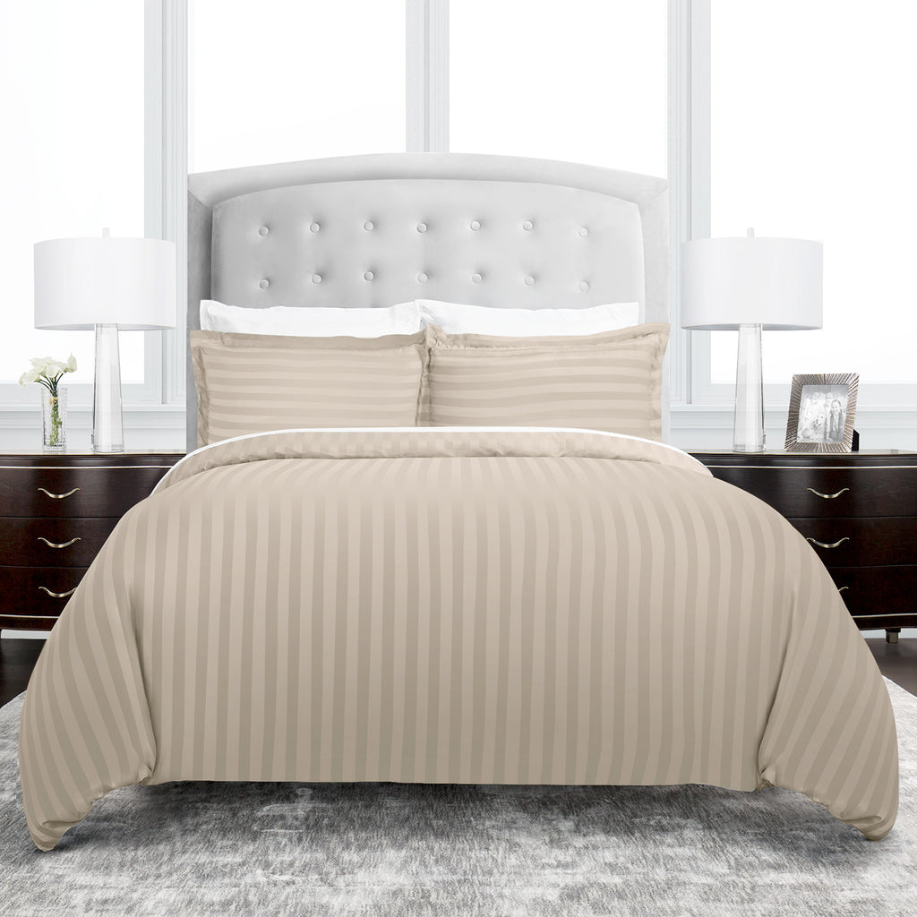 fc2fe4ea95 ... Beckham Hotel Collection Dobby Striped Duvet Cover Set - Luxury Soft  Brushed Microfiber with Matching Shams ...