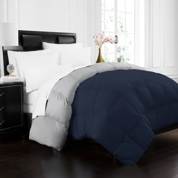 Beckham Hotel Collection 1700 Series Luxury Goose Down Alternative Reversible Comforter - Premium Hypoallergenic - All Season - Duvet