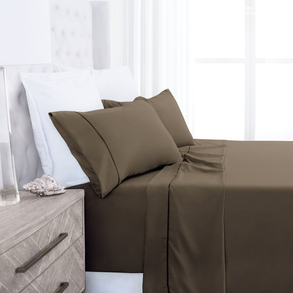 Beckham Hotel Collection Luxury Soft Brushed 1700 Series Microfiber Sheet Set - Hypoallergenic