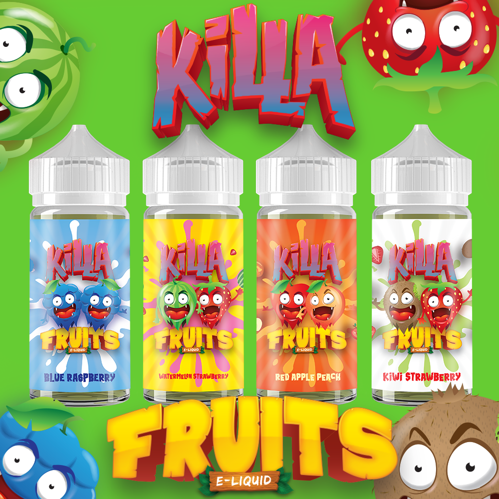 Killa Fruits Starter Package, , Killa Fruits Starter, 15ml, 30ml, 60ml, 120ml, - E-juice Enterprise
