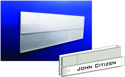 DP100-CPIN (Combination Door Plate With Paper Insert & Number Plate)