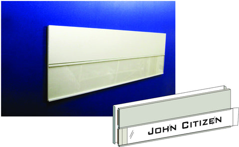 DP100-CPI (Combination Door Plate With Paper Insert)