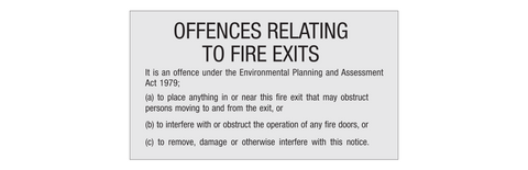 Offences Relating to Fire Exits