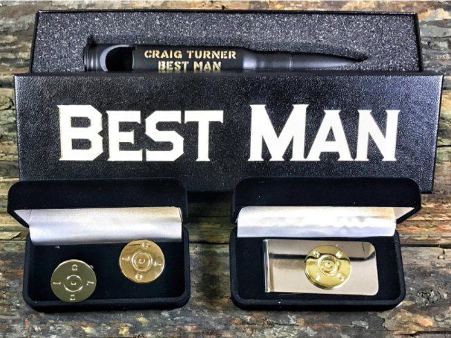 Best Man Gift Bundle -- Bottle Opener and Cufflinks