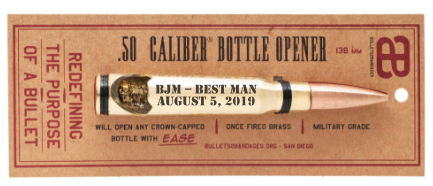 Custom Bullet Bottle Openers for best man gifts