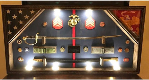 Marine Corps Gifts -- Custom Shadow Box