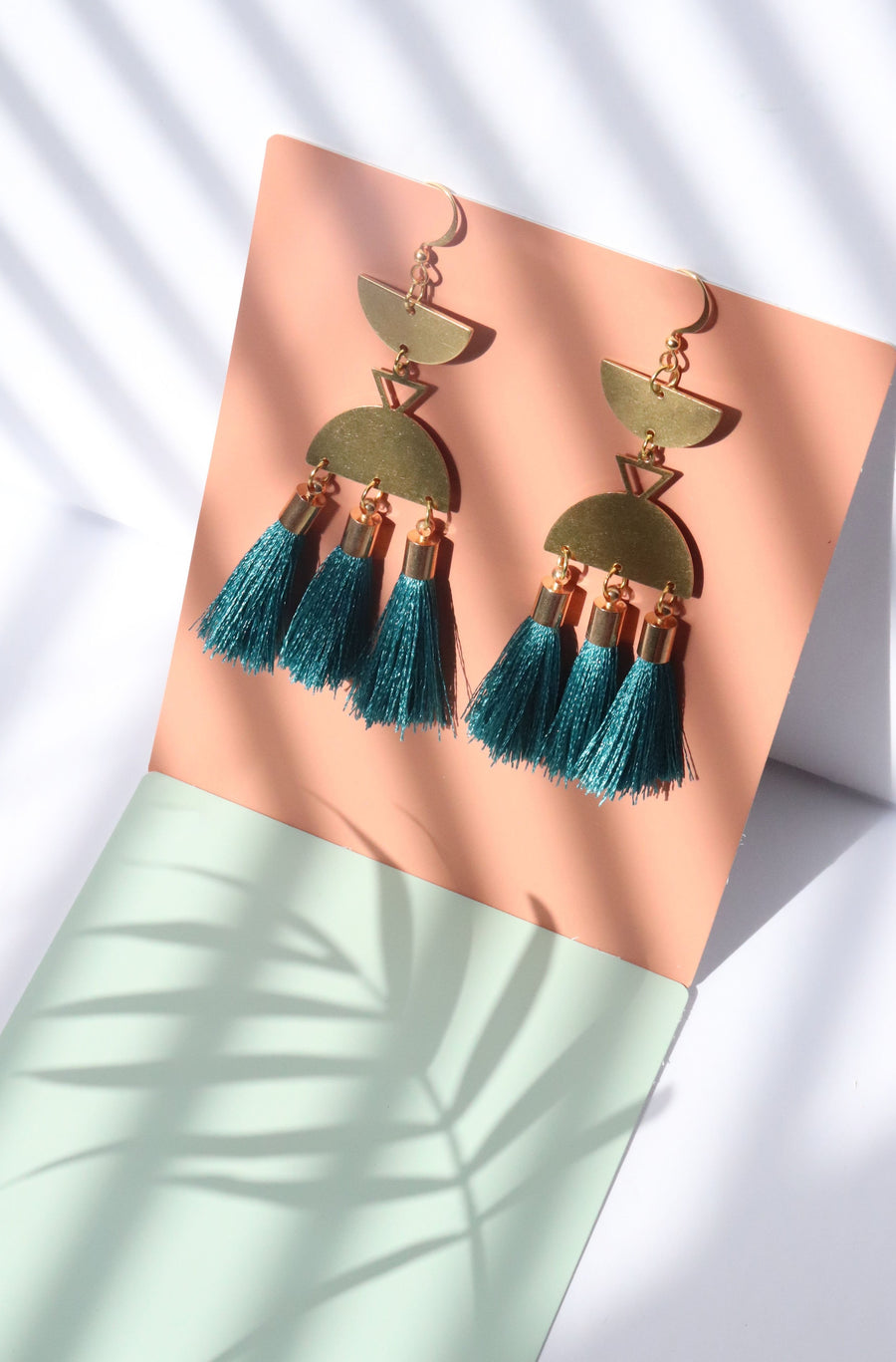 Tassel drop earrings turquoise
