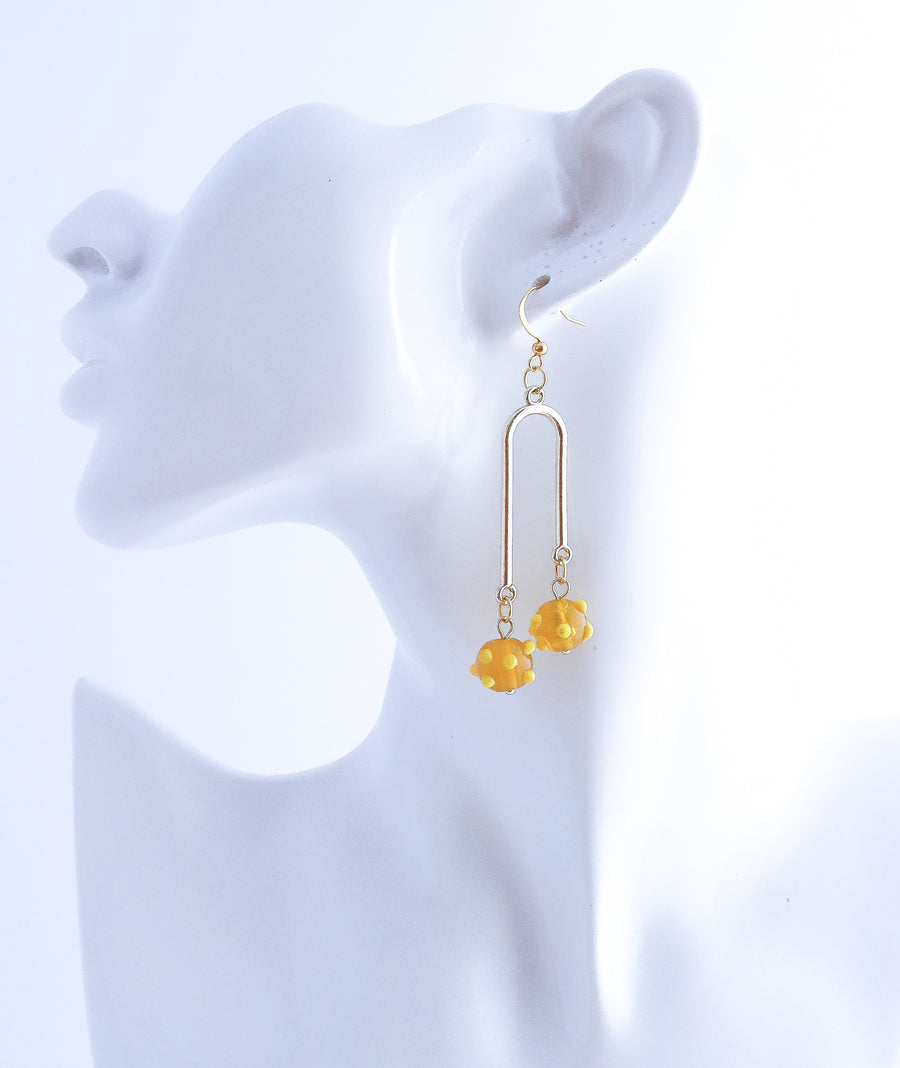 Coral Arc Earring