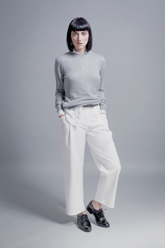 Straight-Leg Cropped Trousers - BUNO DESIGN