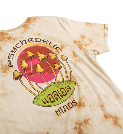Psychedelic Minds Tee - Tea Stain Tan