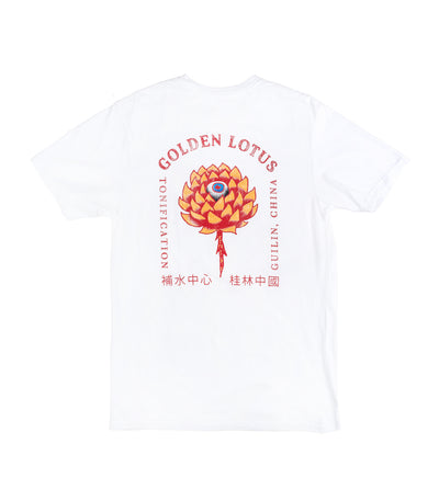 Golden Lotus Tee - Bone White