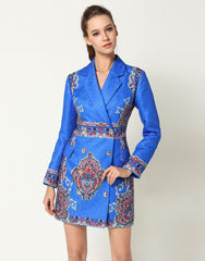 Blue Blazer Dress