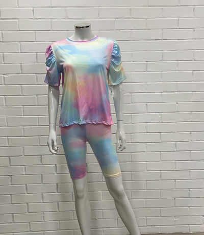 Multicolour Tie Dye Loungewear Set