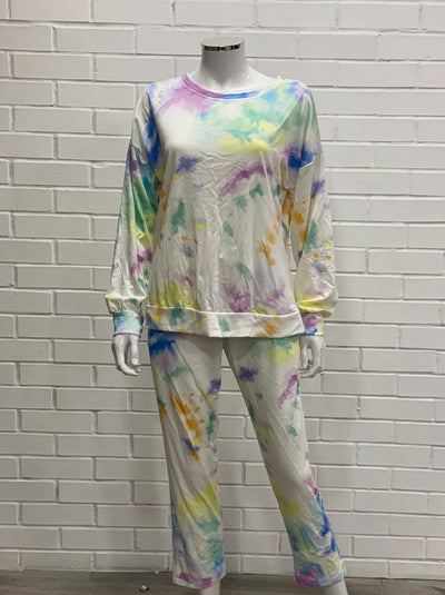 Multi coloured tie Dye loungewear