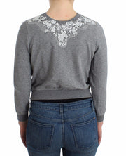 Lingerie Gray Lace Sweater Cardigan Top