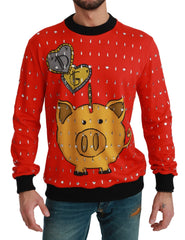 Red Crystal Pig of the Year Sweater
