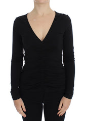 Black Stretch Longsleeve Sweater