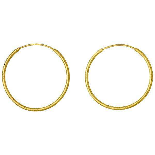 Gold Plated Pilgrim Hoop Earrings