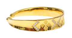 CZ Gold Sterling 925 Silver Bangle Bracelet