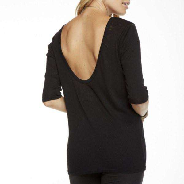 Cotton Chaser T Shirt Back View Black