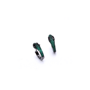 Mini Snake Earrings Zirconia Gemstones
