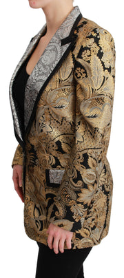 Black Gold Jacquard Blazer Jacket