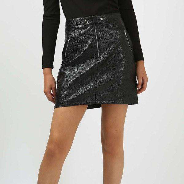 Out Loud Faux Leather Skirt