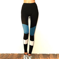 Patchwork Design High Waisted Gym Leggings