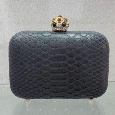 Python Amish Clutch Bag Grey