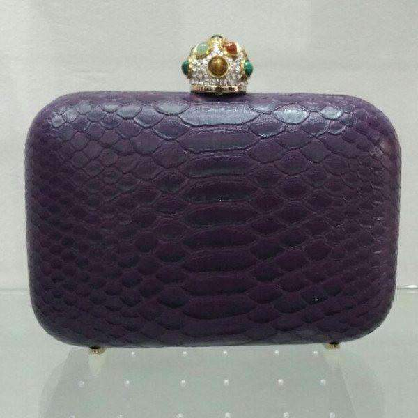 Python Amish Clutch Bag Purple