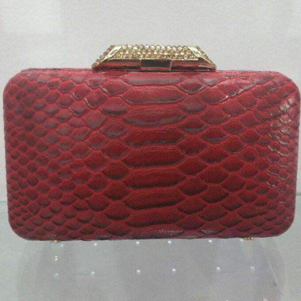 Python Amish Clutch Bag Red