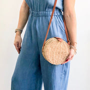 Wicker Straw XXVI London Bag Sand
