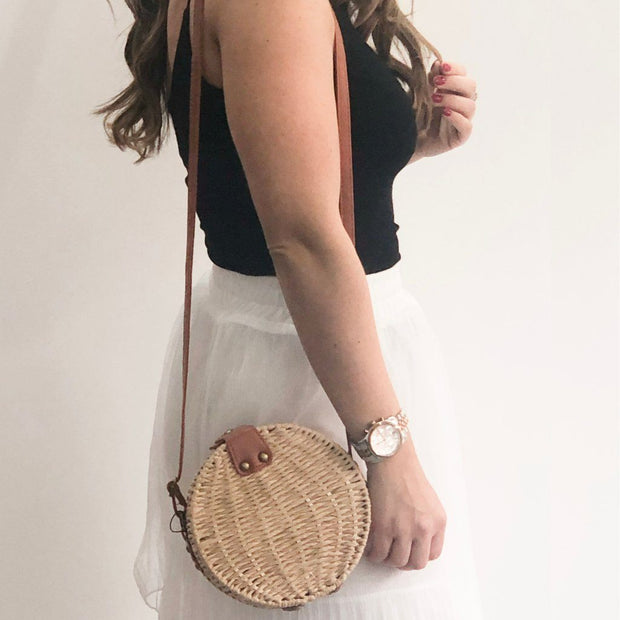 Wicker Straw XXVI London Bag Beige