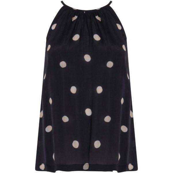 Sleeveless Dotted Coster Copenhagen Blouse - Front View