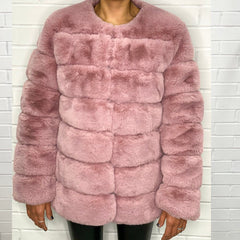 Pink Super Soft Faux Fur Jacket