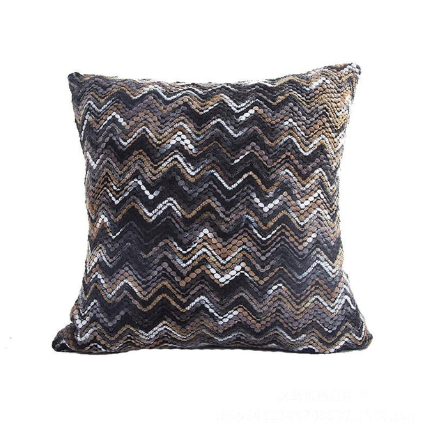 Black Multi Stripe Cushion Cover (Includes Cushion)