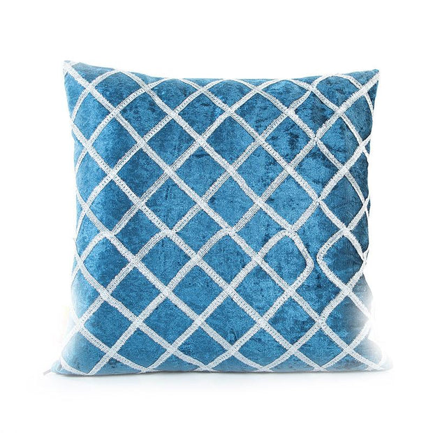 Blue Embroidery Cushion Cover (Includes Cushion)