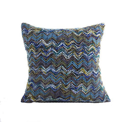 Blue Multi Stripe Cushion Cover (Includes Cushion)
