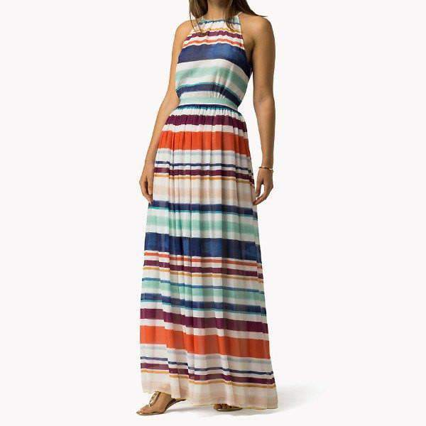 Agatha Tommy Hilfiger Maxi Dress - Front View