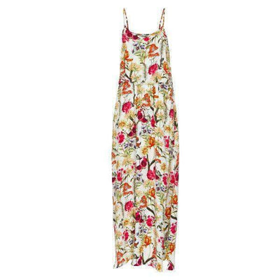 Isolde Flower Print Soaked Maxi Dress - Front View