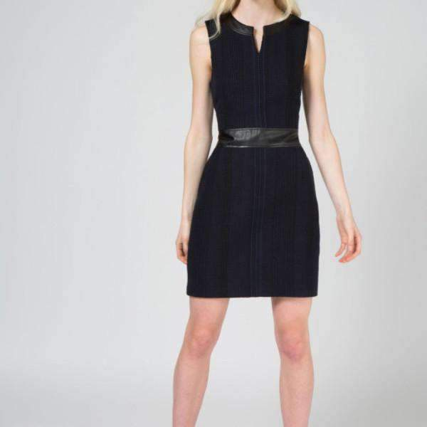 Livia Midnight Weave Dress