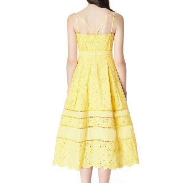 Zest Three Floor Midi Dress - Back View