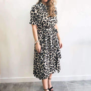 Animal Print High Neck XXVI London Dress Front View